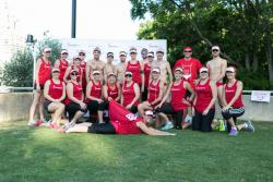 The team before the run...including our very own superwoman