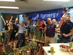 The Brisbane team won the most cans, with a whopping 1542 cans donated