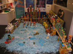 FCm Travel Solutions recently held a Cancastle food drive in offices around the country for Foodbank with the winner of the most creative entry being the Sydney office's Harbour Bridge