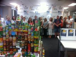 The Melburnians were not far behind with 1502 tins of food staples