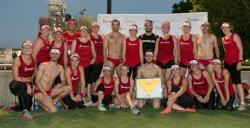 Flight Centre's Brissie Bolting Budgies ran 6km through the streets of Brisbane in red lycra for Youngcare's Budgie Bolt, raising $8095 for Youngcare's At Home Care Grants program and taking out the coveted gold budgies for the third year running